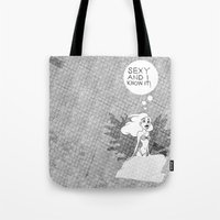 SEXY & I KNOW IT. Ariel … Tote Bag