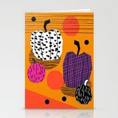 Yar - pumpkin halloween fall autumn throwback retro style fashion urban trendy 1980s 1980 80s 80's  Stationery Cards