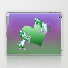 Baby Love Blue Rainbow Unicorns Laptop & iPad Skin