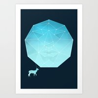 Deer god Art Print