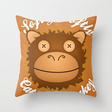 Softly Softly Catchee Monkey Throw Pillow