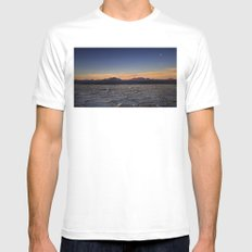 Sunset in Atacama White SMALL Mens Fitted Tee
