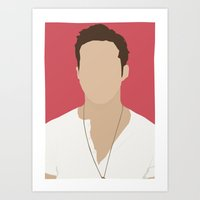 Ryan Gosling Portrait Art Print
