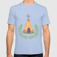 Tipi Mens Fitted Tee Tri-Blue SMALL