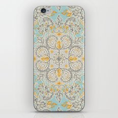 Gypsy Floral in Soft Neutrals, Grey & Yellow on Sage iPhone & iPod Skin