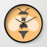 #81 Bee Wall Clock