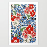 UPPERCASE feedsack floral Art Print