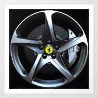 Ferrari FF Wheel Art Print
