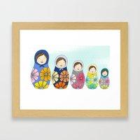 More Matryoshkas Framed Art Print