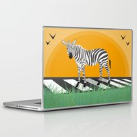 zebra Laptop & iPad Skins featuring Zebra by Nir P