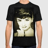 Audrey Hepburn Mens Fitted Tee Tri-Black SMALL
