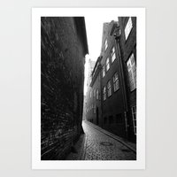 The Alley Photo In Black… Art Print