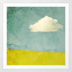 One Cloud Art Print