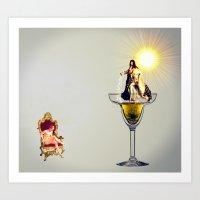 MixMotion: Champagne Coc… Art Print