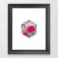 Two Red Poppies Framed Art Print