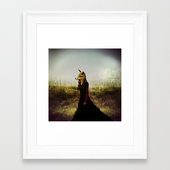 Eyes On The Prize   Fox Lady Framed Art Print