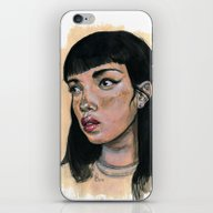 iPhone & iPod Skin featuring Candy Girl by L'Atelier KALEB
