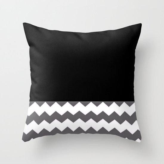 Black White And Gray Throw Pillows : Chevron Gray Black And White Throw Pillow by Corbin Henry Society6