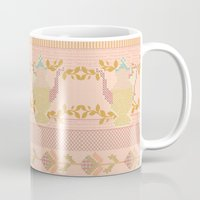 Cross Stitch Tea Party Mug