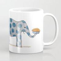polka dot elephants serving us pie Mug