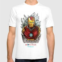 Drawing By Reeve Wong Mens Fitted Tee White SMALL
