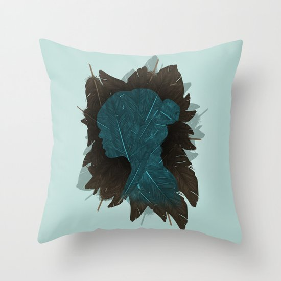 Ornithology. Throw Pillow