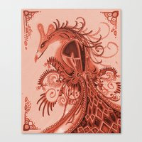 Red Fowl Canvas Print