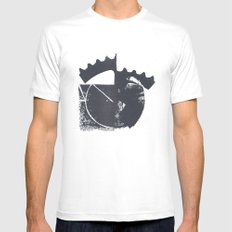 Industrial Mens Fitted Tee SMALL White