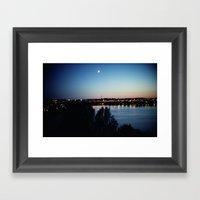 Stockholm Midnight Sun Framed Art Print