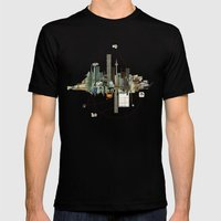 Collage City Mix 9 Mens Fitted Tee Black SMALL
