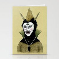 Creature with Black Amulet  Stationery Cards