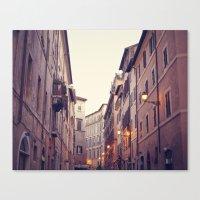 Rome At Dusk Canvas Print