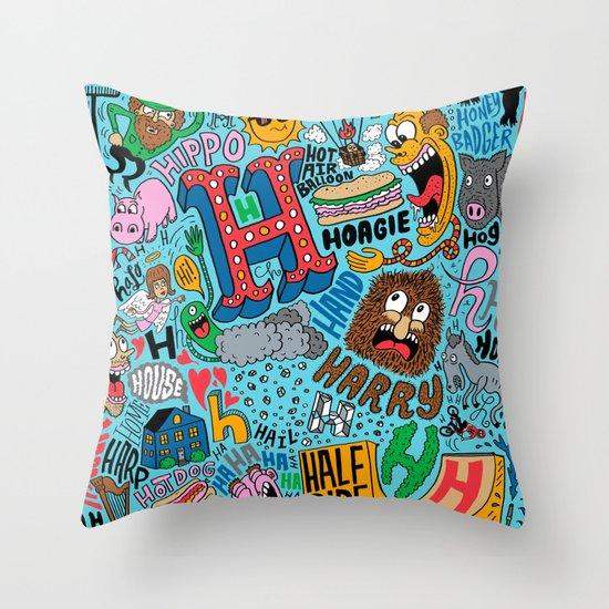 H Pattern Throw Pillow