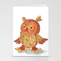 Nighty Owl  Stationery Cards