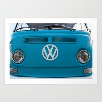 vw Art Prints featuring vw by shine