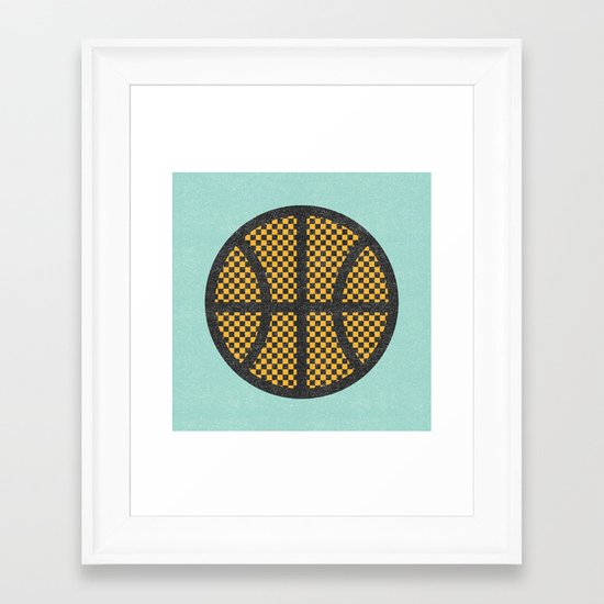 Op Art Basketball. Framed Art Print