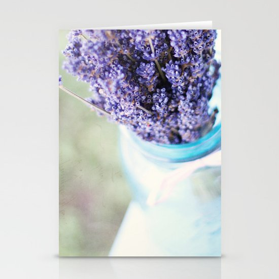 lavender bouquet Stationery Card