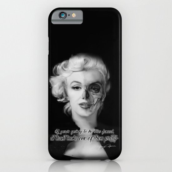 Two Face. Marilyn Quote iPhone & iPod Case