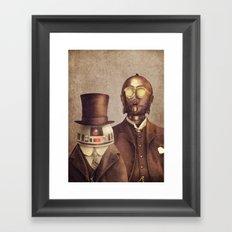 Victorian Robots  Framed Art Print