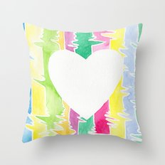 Watercolor Heart Throw Pillow