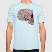 life in cycles Mens Fitted Tee Light Blue SMALL