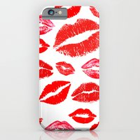 lips iPhone & iPod Cases featuring Lips by deff