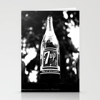 Classic 7up bottle Stationery Cards