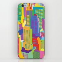 Cityscape windows iPhone & iPod Skin