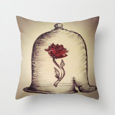 The Rose and the Bell Throw Pillow