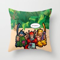 The Three Wise Monkeys Throw Pillow