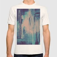 slow glitch Mens Fitted Tee Natural SMALL