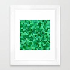 Green tiled mosaic Framed Art Print