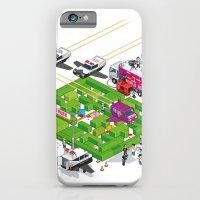 PACMAN crime scene iPhone 6 Slim Case