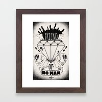 Friend of No Man Framed Art Print